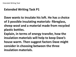 Extended Writing Task P1