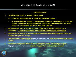 Welcome to Materials 2022!