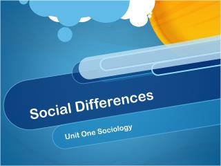 Social Differences