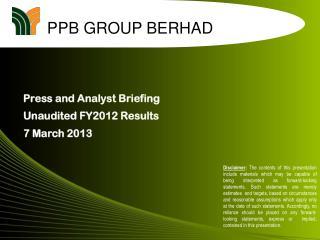 PPB GROUP BERHAD