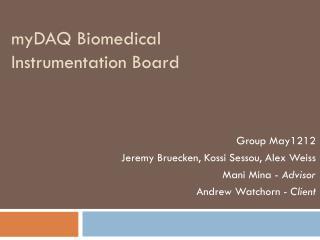 myDAQ  Biomedical Instrumentation Board