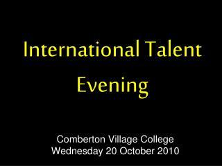 International Talent Evening