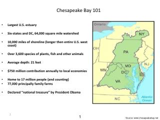 Chesapeake  Bay 101