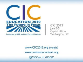 2013  CIC � Education by the Numbers