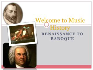 Welcome to Music History