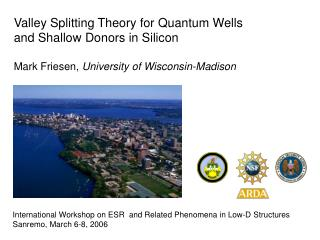 Valley Splitting Theory for Quantum Wells  and Shallow Donors in Silicon