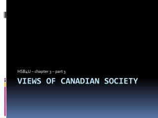 Views of Canadian society