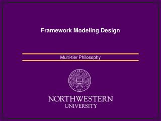 Framework Modeling Design