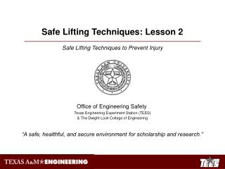 Safe Lifting Techniques to Prevent Injury