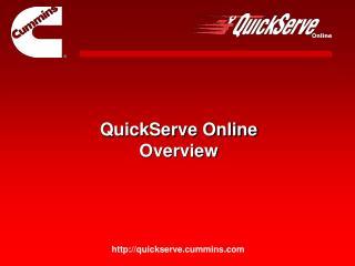 QuickServe Online Overview