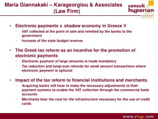 Maria Giannakaki – Karageorgiou & Associates 						 (Law Firm)