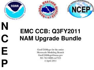 EMC CCB: Q3FY2011 NAM Upgrade Bundle