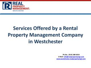 Services Offered by a Rental Property Management  Company in Westchester