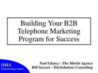 Building Your B2B Telephone Marketing Program for Success