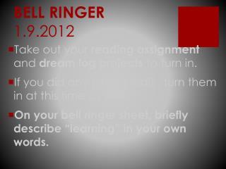 BELL RINGER 1.9.2012