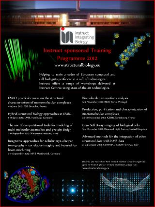 Instruct sponsored Training Programme 2012 structuralbiology.eu