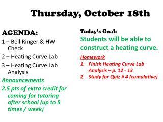 Thursday,  October  18th