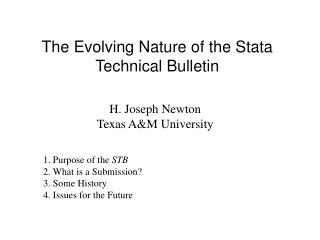 The Evolving Nature of the Stata Technical Bulletin