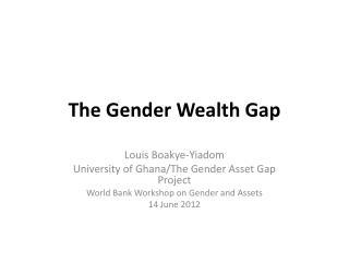 The Gender Wealth Gap