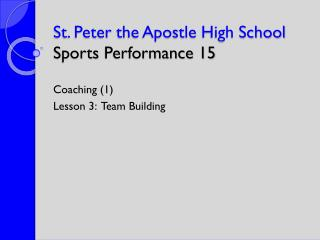 St. Peter  the Apostle High School Sports  Performance  15