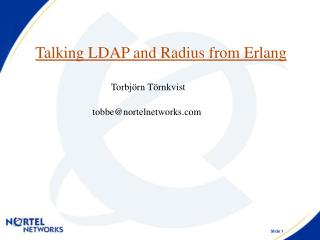 Talking LDAP and Radius from Erlang