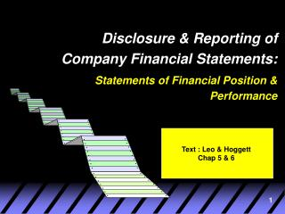 Disclosure & Reporting of Company Financial Statements: