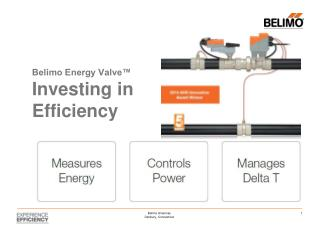 Belimo Energy Valve� Investing in Efficiency