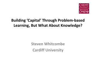 Building 'Capital' Through Problem-based Learning, But What About Knowledge?