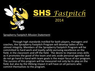 SHS  Fastpitch 2014
