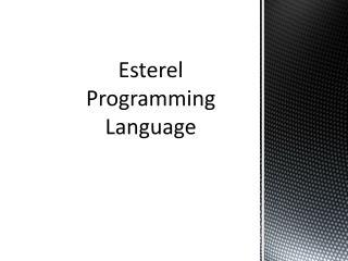 Esterel  Programming Language