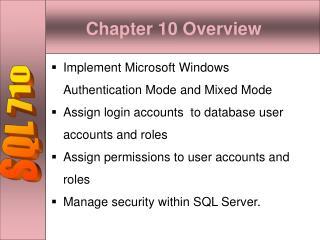 SQL 710