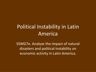 Political Instability in Latin America