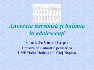Anorexia nervoasă şi bulimia la adolescenţi