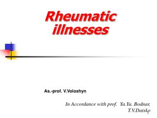 Rheumatic illnesses