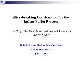 Stick-breaking Construction for the Indian Buffet Process