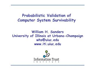 Probabilistic Validation of  Computer System Survivability