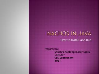 NACHOS IN JAVA