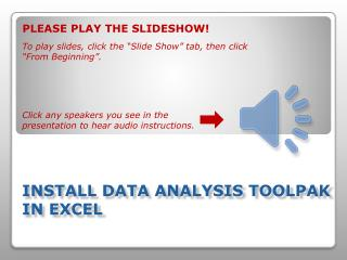 Install Data Analysis ToolPak in Excel