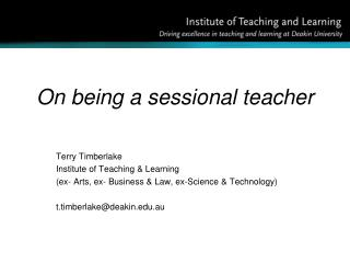 On being a sessional teacher