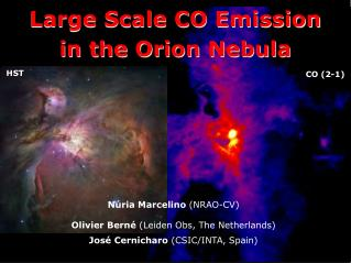 Large Scale CO Emission  in the Orion Nebula
