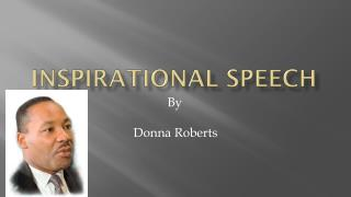 Inspirational Speech