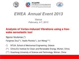 EWEA  Annual Event 2013 Vienna February, 4-7, 2013