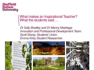 What makes an Inspirational Teacher? What the students  said …