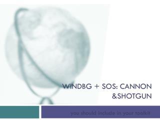 Windbg +  SOS: cannon & shotgun