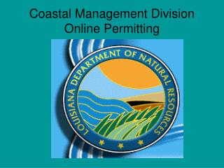 Coastal Management Division Online Permitting