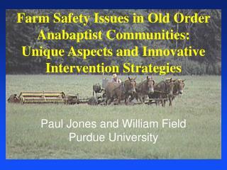 Paul Jones and William Field Purdue University