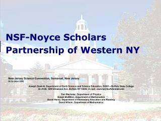 NSF-Noyce Scholars Partnership of Western NY