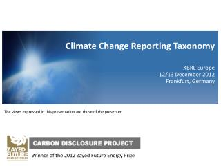 Winner of the 2012  Zayed  Future Energy Prize