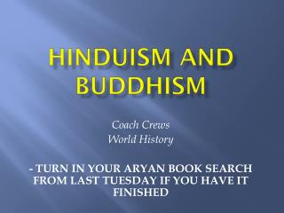Hinduism and Buddhism