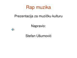 Rap muzika